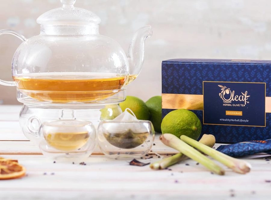 Oleaf olive tea lemongrass flavour